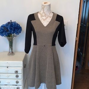 Pretty London times fit and flare checkered dress